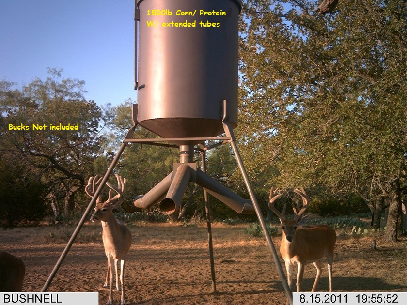 ts trustump gallon feeders deer corn or pellets lbs of and up gravity to index product protein holds for dispenses at feeder