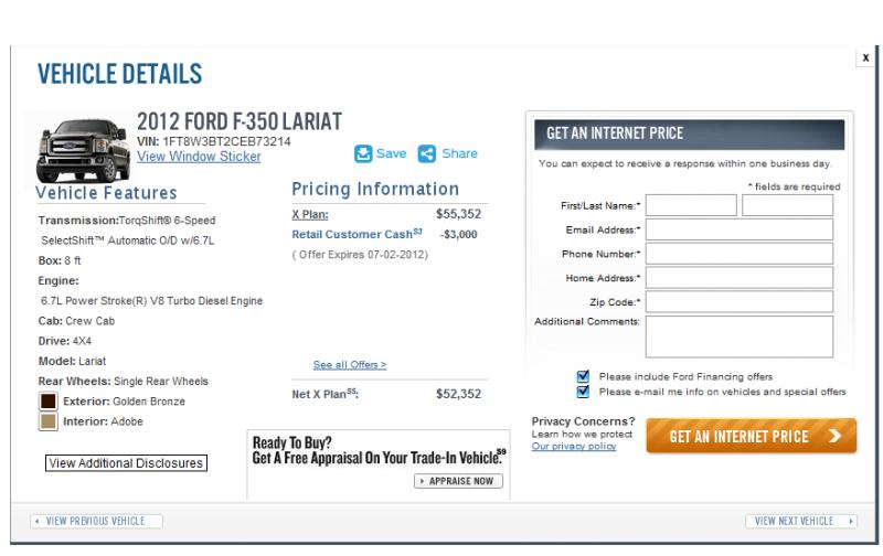Ford X Plan Any One Use It TexasBowhuntercom Community - Ford employee pricing vs invoice