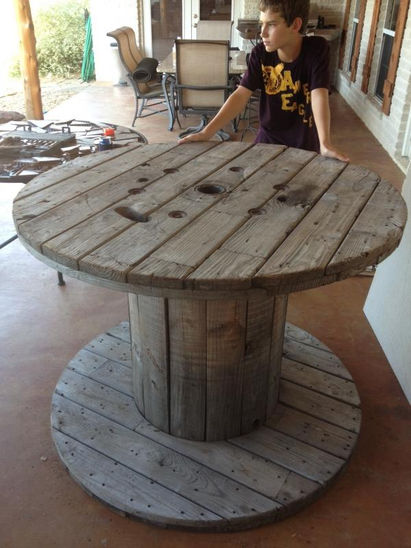 wooden spool table - texasbowhunter community discussion forums