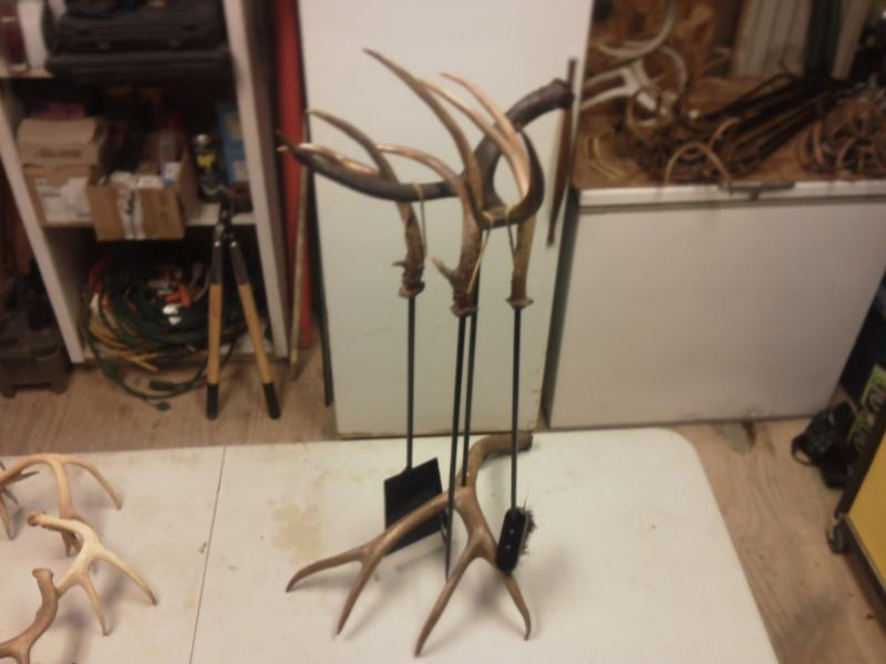 Mule Deer Antler Fireplace Tools D-I-Y Projects