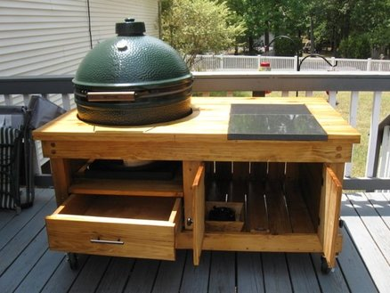 build a big green egg table