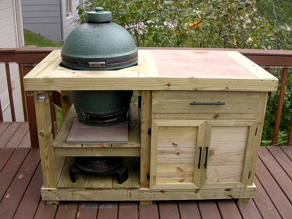 table plans for large big green egg