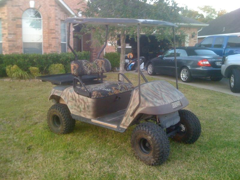 cheap ways to lift a golf cart? - TexasBowhunter.com Community ... on homemade hot tub, troubleshooting club car electric cart, homemade tv, homemade atv,