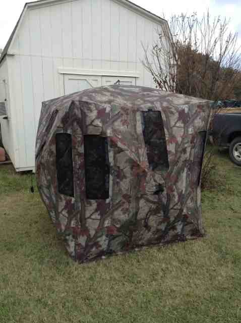 blinds pop hunting up ox oxhide backwoods best top dp sided double portable barronett bull blind