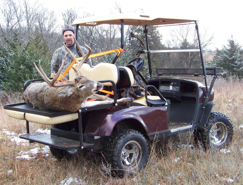 Low Budget Review - EZ Go from Ennis Golf Carts - TexasBowhunter.com on bus deer stand, wheelchair deer stand, golf cart deer lift,