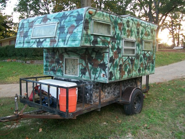 Slide in camper mounted to trailer? - TexasBowhunter com