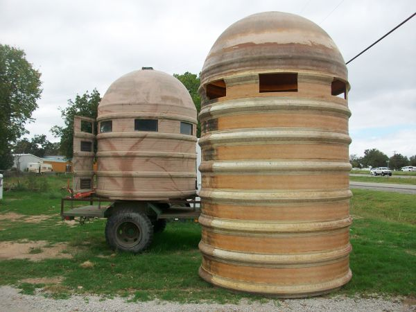 Using a Fiberglass Silo/Tower for a bow blind