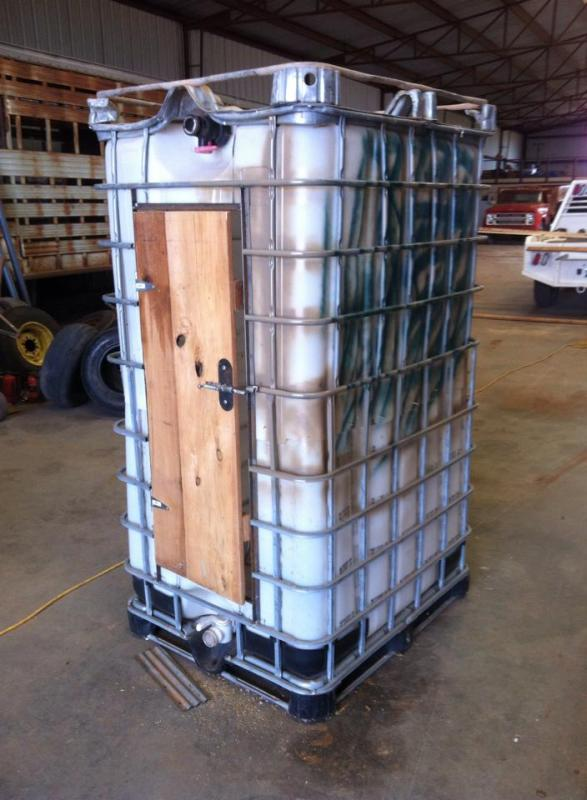 Chemical tote hunting blind - TexasBowhunter com Community